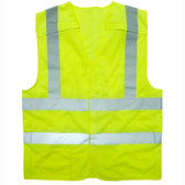 VB221PFR5XL CLASS II  LIMITED FR  5-POINT BREAKAWAY VEST  LIME MESH  ONE OUTSIDE LOWER POCKET  ONE INSIDE CHEST POCKET WITH HOOK & LOOP CLOSURE  2-INCH SILVER REFLECTIVE TAPE Cordova Safety Products