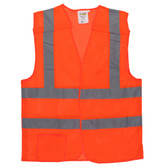 VB230PXL CLASS II  5-POINT BREAKAWAY VEST  ORANGE MESH  ONE OUTSIDE POCKET  ONE INSIDE POCKET WITH HOOK & LOOP CLOSURE  2-INCH SILVER REFLECTIVE TAPE Cordova Safety Products