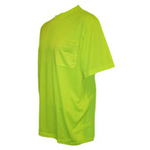 V1314XL COR-BRITE™ NON-RATED  LIME BIRDSEYE MESH T-SHIRT  SHORT SLEEVES  CHEST POCKET Cordova Safety Products