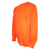 V1404XL COR-BRITE™ NON-RATED  ORANGE BIRDSEYE MESH T-SHIRT  LONG SLEEVES  CHEST POCKET Cordova Safety Products