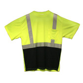V451-2XL COR-BRITE™ CLASS II  LIME BIRDSEYE MESH T-SHIRT  SHORT SLEEVES  CHEST POCKET  2-INCH SILVER REFLECTIVE TAPE  BLACK FRONT PANEL Cordova Safety Products