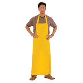 """RA35Y .35 MM YELLOW PVC/POLY APRON  ATTACHED TIES  35"""" X 47"""" Cordova Safety Products"""