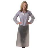 """RA08C48 8 MIL CLEAR VINYL APRON  TIE STRINGS & SEWN EDGES  36"""" X 48"""" Cordova Safety Products"""