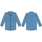 FZ200LBXL FOREFRONT™ FR SHIRT  LIGHT BLUE  7 OZ FIREZERO® TWILL FABRIC  BUTTON DOWN COLLAR  FLAP CHEST POCKETS  SIZE XL Cordova Safety Products
