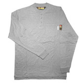 FZ300LGM FOREFRONT™ FR HENLEY  GRAY  6.5 OZ FIREZERO® INTERLOCK FABRIC  3-BUTTONS  CHEST POCKET  SIZE M Cordova Safety Products