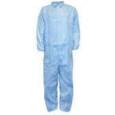 FRC1502XL DEFENDER FR™ BLUE LIMITED FLAME RESISTANT COVERALL  ELASTIC WRISTS & BACK Cordova Safety Products