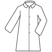 MPLAB1003XL DEFENDER II™  WHITE MICROPOROUS LABCOAT WITH 4-SNAP FRONT & COLLAR  NO POCKETS  OPEN WRISTS Cordova Safety Products