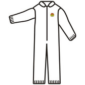SMS200L C-MAX™ WHITE SMS COVERALL  ZIPPER FRONT AND COLLAR  ELASTIC WAIST  WRISTS & ANKLES Cordova Safety Products