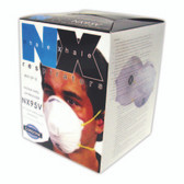 NX95V N95 VALVED PARTICULATE RESPIRATOR  2 LATEX FREE STRAPS  NIOSH APPROVED  10/BOX Cordova Safety Products