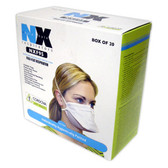 NXF95 N95 PARTICULATE RESPIRATOR  FLAT FOLD  2 LATEX FREE STRAPS  NIOSH APPROVED  20/BOX Cordova Safety Products