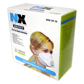 NXF95V N95 VALVED PARTICULATE RESPIRATOR  FLAT FOLD  2 LATEX FREE STRAPS  NIOSH APPROVED  20/BOX Cordova Safety Products
