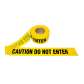 T40102 4 MIL YELLOW CAUTION DO NOT ENTER Cordova Safety Products