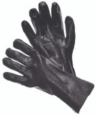 "96-6901  - SEMI-ROUGH FINISH BLACK PVC 12"" CHEMICAL RESISTANT GLOVES"