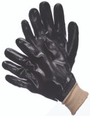 96-5402  - SMOOTH FINISH BLACK PVC  CHEMICAL RESISTANT GLOVES