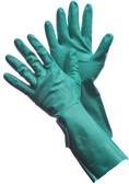 "41-0058 15 - MIL - 13"" UNLINED GREEN NITRILE CHEMICAL RESISTANT GLOVES"
