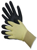 25-3039BK  -  KEVLAR SHELL WITH NBR PALM COATED COATED GLOVES      ( CUT & KEVLAR HEAT RESISTANT)  CUT & HEAT RESISTANT