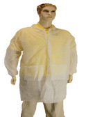 00-9100  - POLYPROPLYENE LAB COAT - LAB COAT - 2 POCKETS DISPOSABLE WEAR