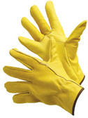 32-1383GB  - COWGRAIN GOLDEN BROWN DRIVER GLOVES  WITH KEYSTONE THUMB  LEATHER DRIVER