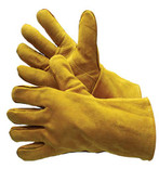 31-4013KV  - BROWN WELDING GLOVES WITH REINFORCED THUMB  LEATHER WELDING