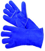 31-4014  - BLUE LEATHER WELDING WITH REINFORCED  THUMB & PALM LEATHER WELDING