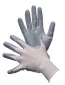 50-6639  - WHITE NYLON SHELL GREY POLYURETHANE COATING  NYLON/POLYESTER SHELL W/ COATING