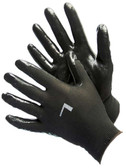 50-8839PBK  - BLACK POLYESTER SHELL W/ BLACK NITRILE COATING  NYLON/POLYESTER SHELL W/ COATING