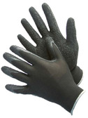 50-8842PBK  - BLACK POLYESTER SHELL WITH TEXTURED BLACK LATEX COATING  NYLON/POLYESTER SHELL W/ COATING
