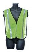 98-1301-GS  - GREEN MESH / SILVER REFLECTOR  SAFETY VEST