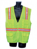 98-5801-G -  LIME SURVEYOR'S VEST SAFETY VEST