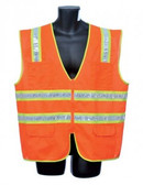 98-5900-O - ORANGE SURVEYOR'S VEST SAFETY VEST