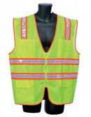 98-5901-G - LIME SURVEYOR'S VEST SAFETY VEST