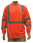98-3500-O - ORANGE - CLASS III LONG SLEEVE T-SHIRTS  SAFETY VEST