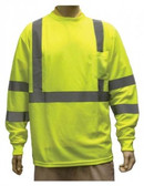 98-3501-G - LIME - CLASS III LONG SLEEVE T- SHIRTS  SAFETY VEST