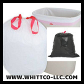 DT55GALN Drawstring -drawtuff trash bags - can liners - WHITTCO Industrial supplies