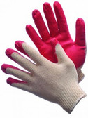 50-3500C  -  STRING KNIT WITH RED LATEX  PALM COATED  STRING KNIT
