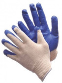 50-3600  -  STRING KNIT WITH BLUE LATEX PALM COATED ( Size: S - XL )  STRING KNIT