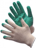 50-3700C-2 -  STRING KNIT WITH GREEN LATEX PALM COATED  STRING KNIT