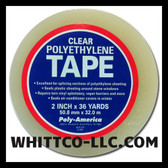 Polyethylene Plastic Sheeting Sealing Tape Clear 2 x 36 YD PT-236 Plastic Sheeting-Vapor Barrier