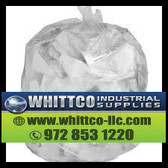 Trash Bags Natural 40x48 16 micron S404816N 45 gallon (