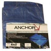 ANCHOR 11004 6' X 8' POLYETHYLENE TARP