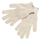 LARGE COTTON/POLYESTER NATURAL STRING KNIT GLOVE