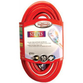 12/3 SJTW 100' EXT CORDLIGHTED ENDS RED/WHITE