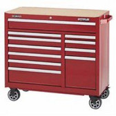 "41"" 11-DRAWER CABINET -RED"