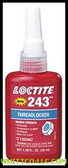 50 ML LOCTITE 243 THREADLOCKER50ML OIL TOLERANT   Sold ONLY in the QUANTITY INCREMENTS  of  1 per & Packaged  10EA/Case