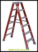 8' FIBERGLASS TWIN STEPLADDER TYPE 1A|FM1508|443-FM1508|WHITCO Industiral Supplies