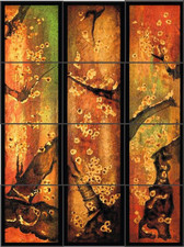 Asian Panels Ceramic Tile Design