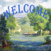 Bluebonnet Welcome Sign Decorative Tile
