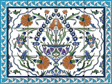 Caribbean panel ceramic tile mural decorative custom design for Ceramic mural designs