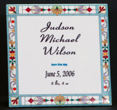 Custom Baby  Ceramic Tile  With Easel Back