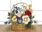 Flower Basket Artistic Tile Mural